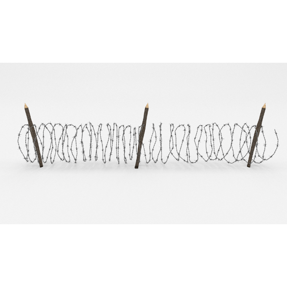 3DOcean Barb Wire Obstacle 10 19917888