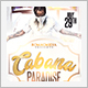 White and Gold Cabana Party Flyer