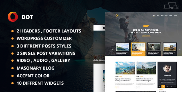 Dot Blog Pro - Creative Blog WordPress Theme