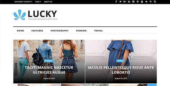 Lucky - WordPress Magazine and Blog Theme