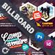 Camping Adventure Billboard Templates
