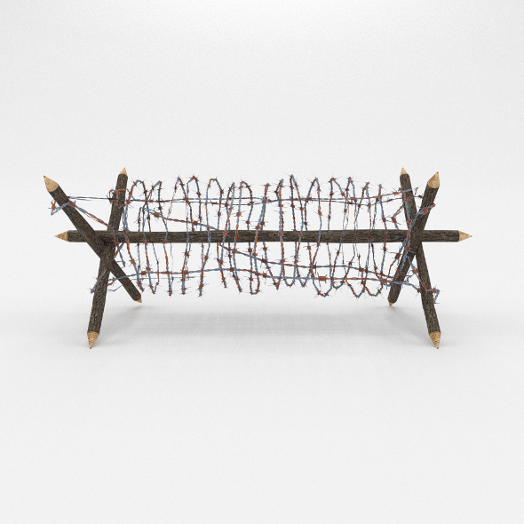 3DOcean Lowpoly Barb Wire Obstacle 1 19922673