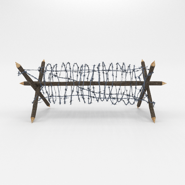 3DOcean Lowpoly Barb Wire Obstacle 2 19922706