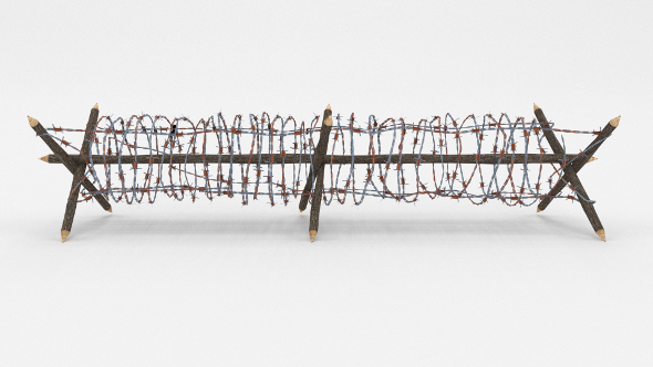 3DOcean Lowpoly Barb Wire Obstacle 3 19922737