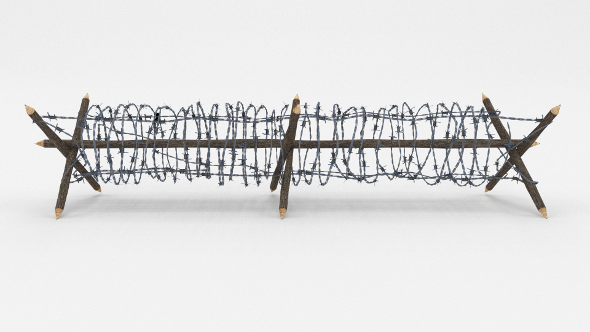 3DOcean Lowpoly Barb Wire Obstacle 4 19922954
