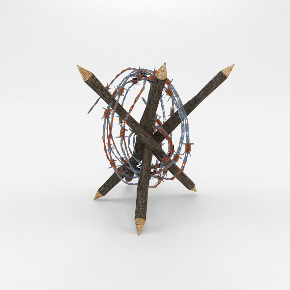 3DOcean Lowpoly Barb Wire Obstacle 5 19923005