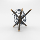 Lowpoly Barb Wire Obstacle 6