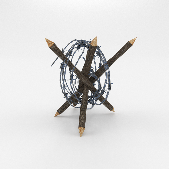 3DOcean Lowpoly Barb Wire Obstacle 6 19923059