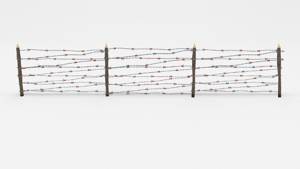 3DOcean Lowpoly Barb Wire Obstacle 7 19923106