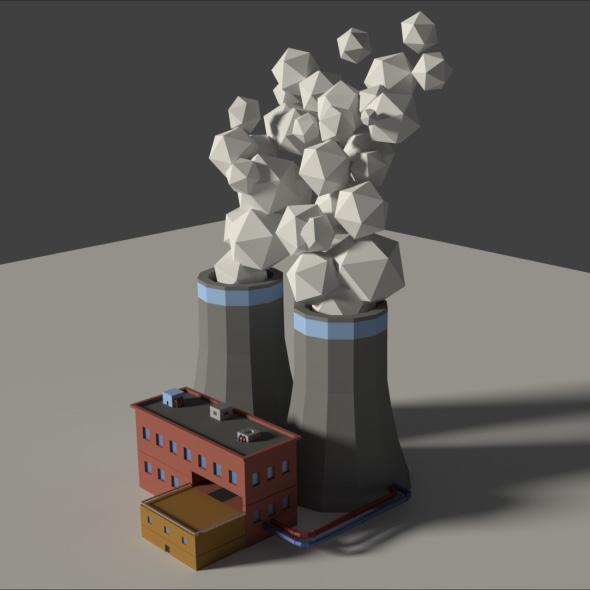 3DOcean Low Poly Cartoon Factory 2 19923311