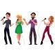 Men and Women Singing Karaoke
