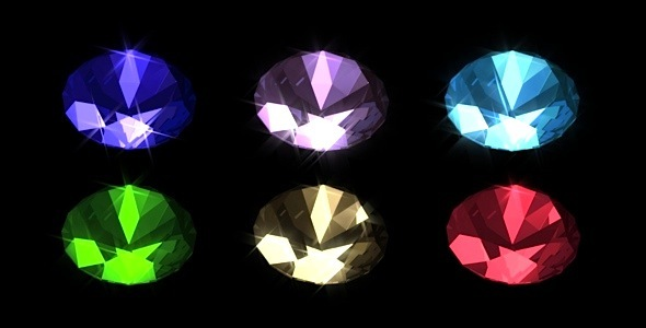 Brilliant Gemstones Pack 6 Loops VideoHive Motion Graphic  Bugs  3D Object 1951350 torrent
