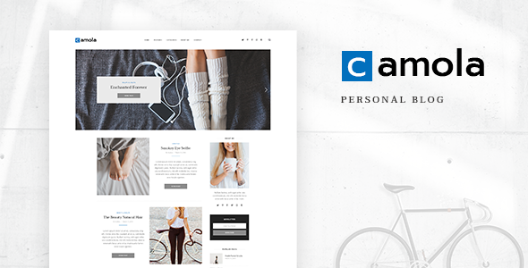 Camola - Personal Blog PSD Template focused on Blogger, Traveler, Photographer needs with PSD Files