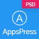 AppsPress - Material App Landing PSD Template