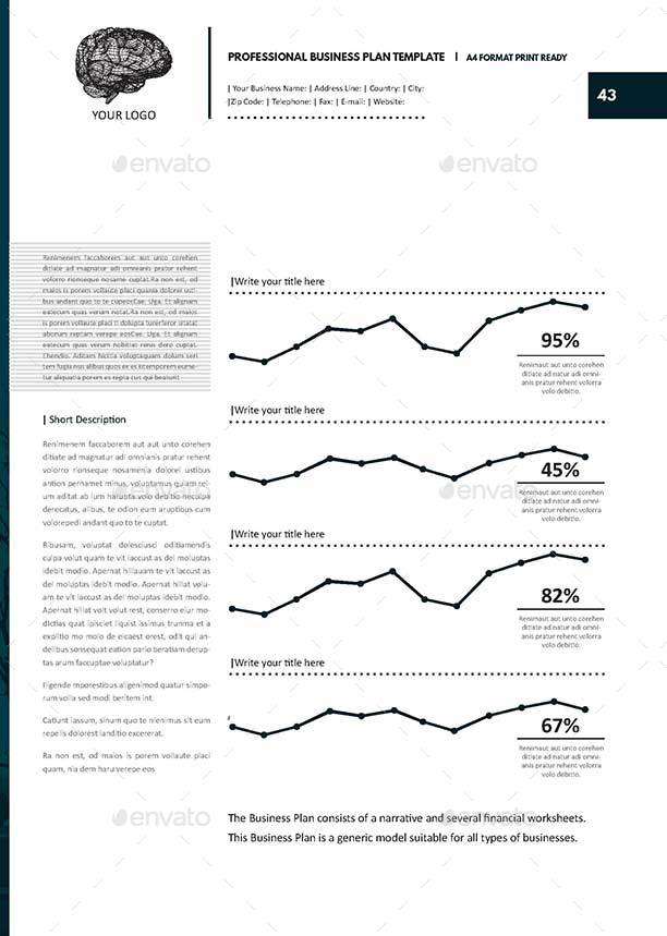 Professional Business Plan Template by Keboto – Printable Business Plan Template
