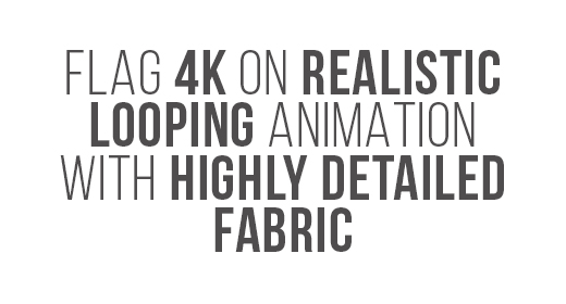 Flag 4K On Realistic Looping Animation With Highly Detailed Fabric