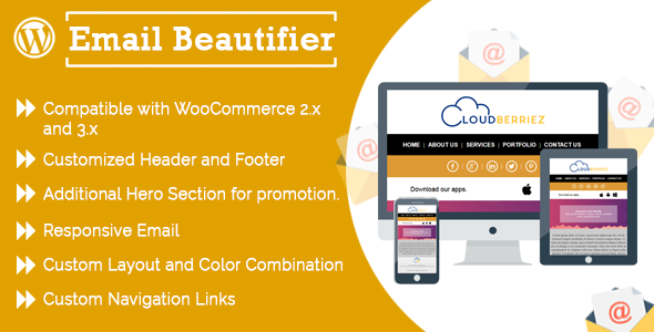 WP E-mail Beautifier – CloudBerriez (WordPress)