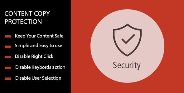 Content Copy Protection - No Right Click For Prestashop