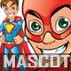 Manga Superhero Mascot