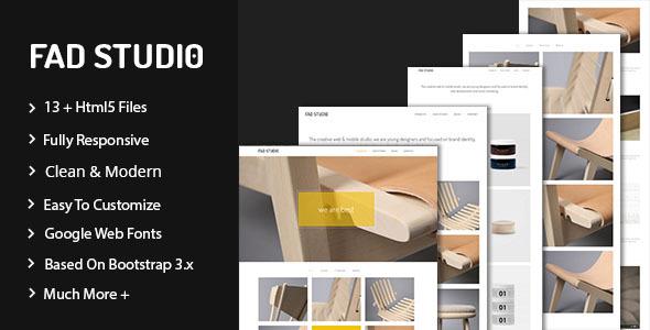 Fad Studio - Minimal Portfolio Template