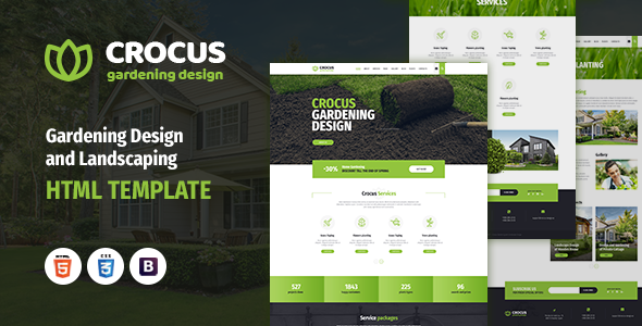 Crocus - Gardening and Landscape Design HTML Template