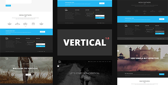 Image of Vertical - One Page Multipurpose HTML5 Template