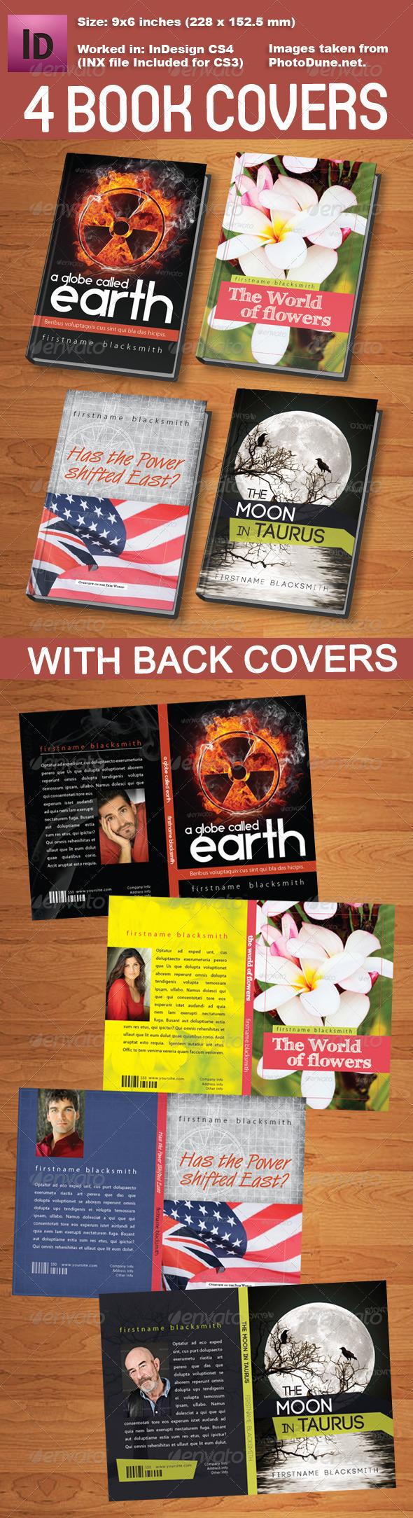 4 Book Cover Templates - Miscellaneous Print Templates