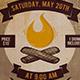 Bonfire Party Flyer Template