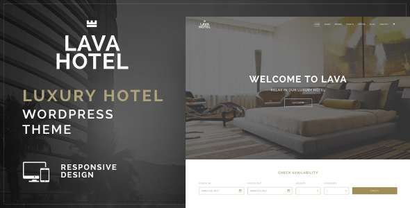 Lava - Luxury Hotel WordPress Theme