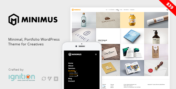 Minimus - Minimal, Portfolio WordPress Theme for Creatives