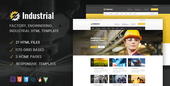 Industrial - Factory / Industry / Engineering HTML Template