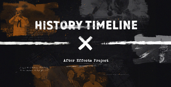 History Timeline Retro After Effects Templates FDesigncom - After effects timeline template
