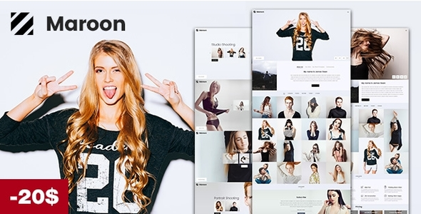Download Maroon | Photography WordPress Theme