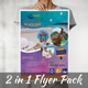 Travel Tourism 2 in 1 Flyer Pack