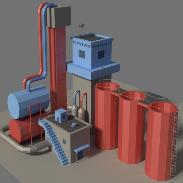 3DOcean Low Poly Factory 3 19930633