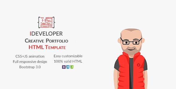 iDeveloper - Creative Personal Portfolio Template