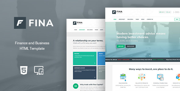 Download Fina - Finance and Business HTML Template