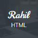Rahil - Material Responsive HTML5  One Page Template