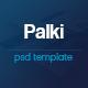 Palki App Landing Page PSD Template