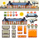 Luxury Mansion in Autumn Flat Game Level Kit