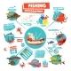 Fishing Infographics Design