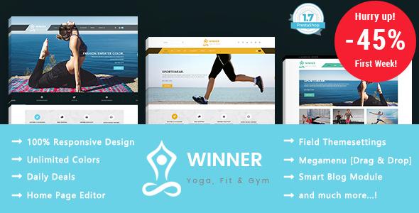 Winner - Yoga Gym & Fitness Responsive Prestashop 1.7 Theme