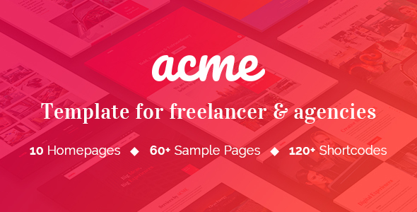 ACME - Theme for freelancers & agencies