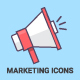 Digital Marketing Outline Icons