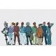 Retro Group of Businessmen and Businesswomen Backs