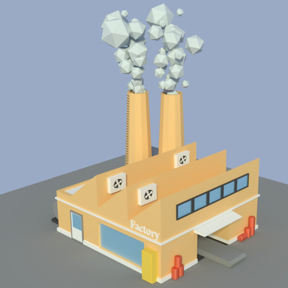 3DOcean Low Poly Factory 4 19936497