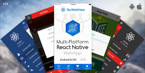 CodeCanyon Sky Webview Android & IOS React Native WebApp 19936640
