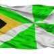 Dili City Isolated Waving Flag