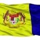Putrajaya City Isolated Waving Flag