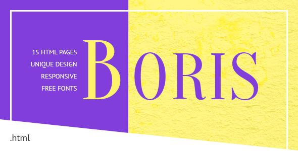 Download Boris - Creative Portfolio HTML Template
